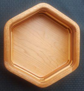 Hexagon Bowl with Mahogany, Aspen, Cherry and Walnut