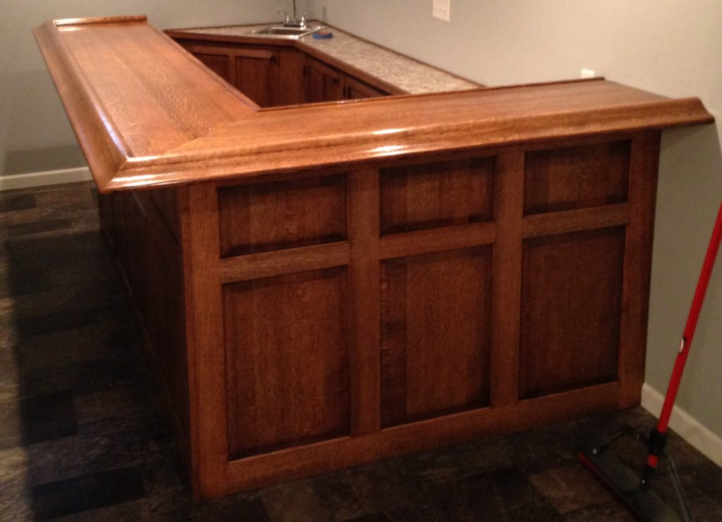 Custom Bar 2 in Quartersawn Oak