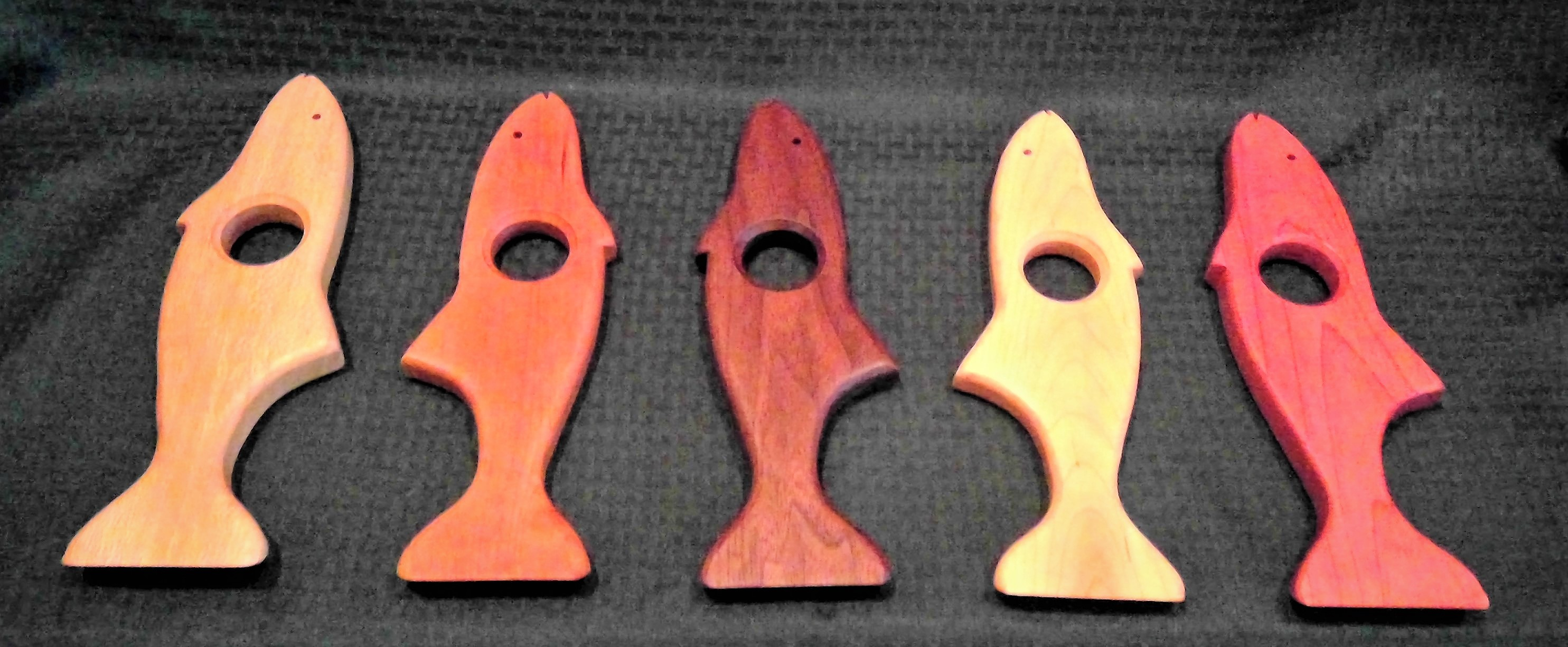 Catch of the Day (l to r) Spalted Sycamore, Cherry, Walnut, Maple, Cedar