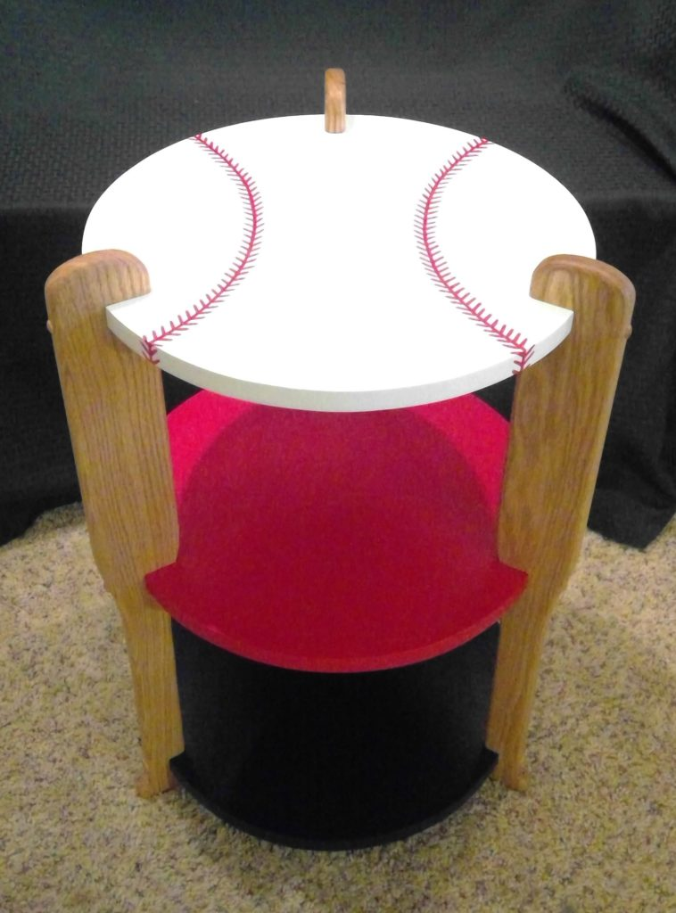 Baseball Table with Oak Bats