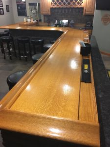 Custom Bar Top 2 - Quartersawn Oak